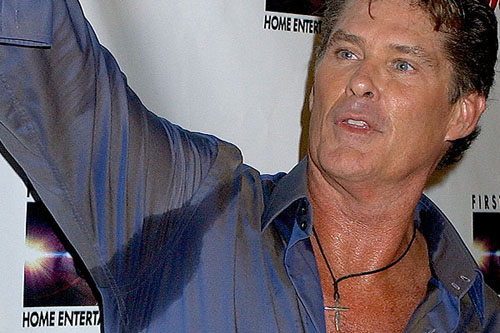 The Hof shows us his sweaty side. (Photo: Getty Images)