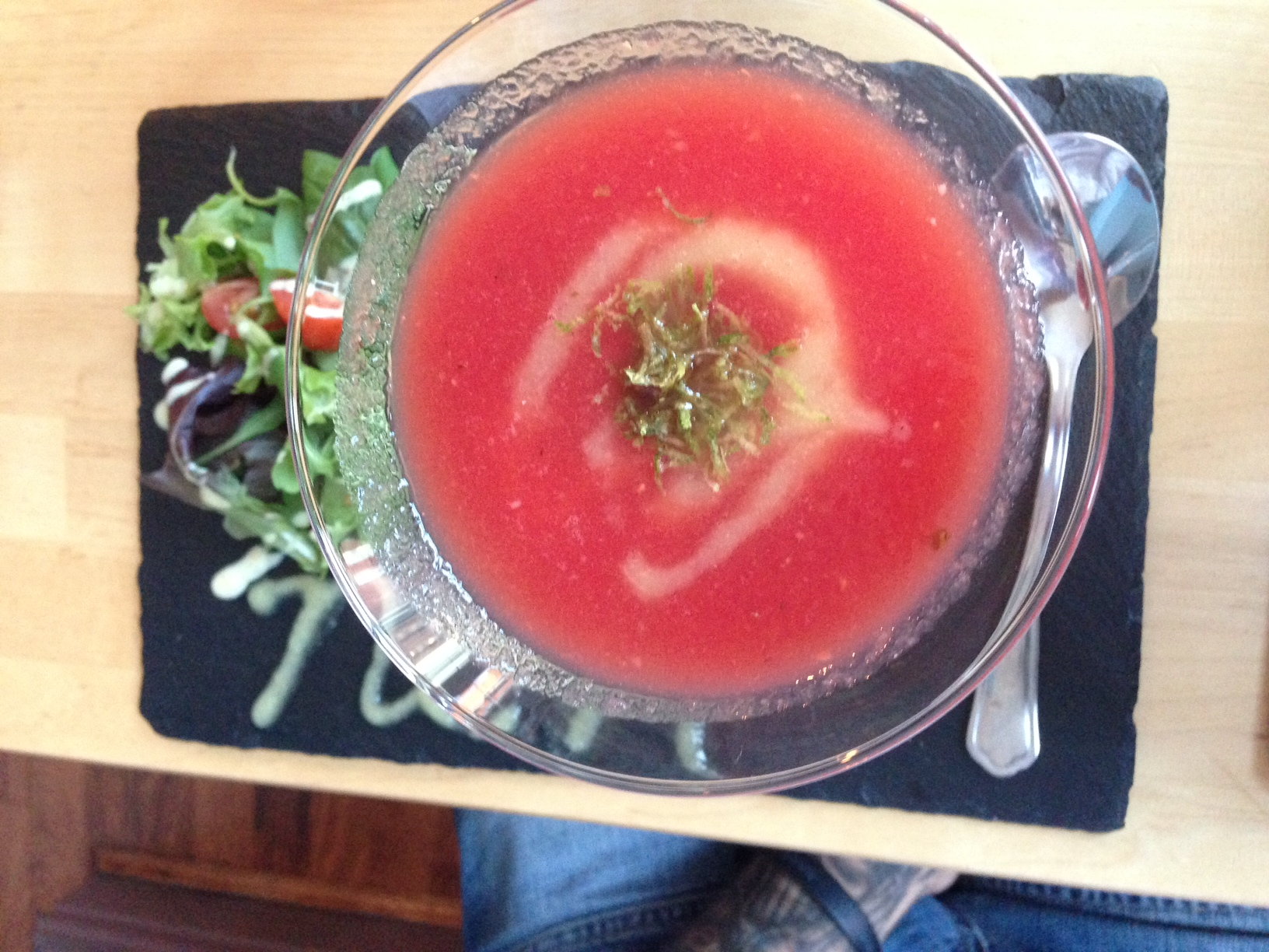 nom-restaurant-hanley-stoke-pimms-and-watermelon-soup