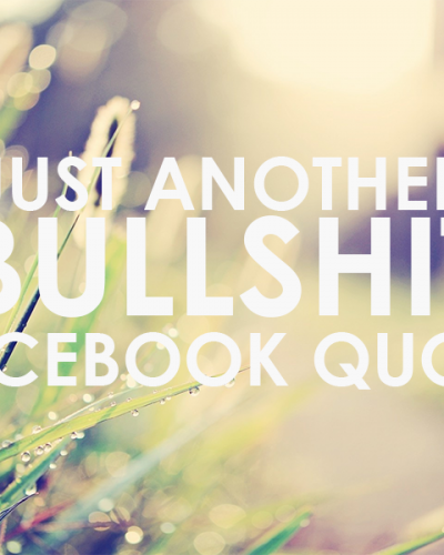 Why You Should Address Your Life Issues Rather Than Post Another Quote on Facebook
