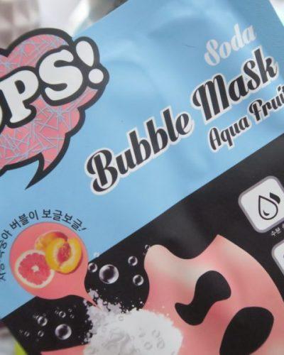 OOPS… Bubble Soda Mask