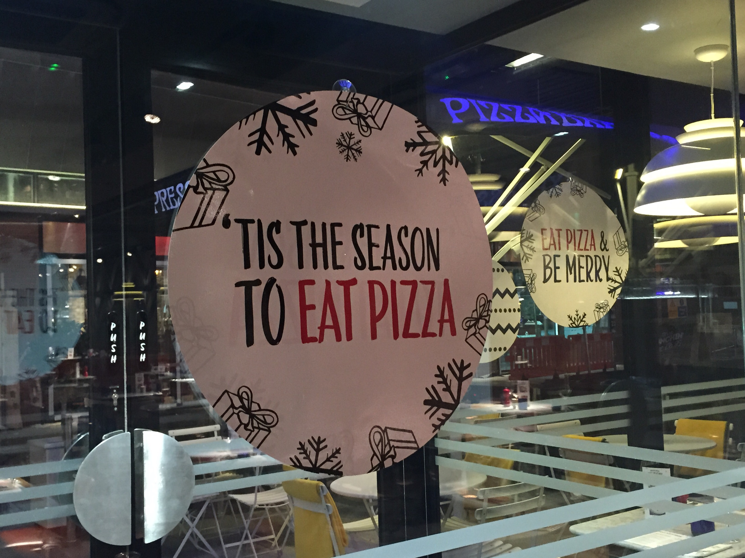 Pizza Express Christmas Menu Stoke On Trent Ginger Girl